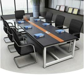 天津大班台会议桌、长方形培训桌、大电脑桌