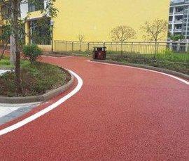 景区道路彩色透水混凝土地坪-楚雄市政透水地坪
