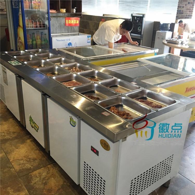 供應韓餐小菜保鮮展示櫃,自助餐燒烤展示櫃,小菜保鮮冷藏冰箱