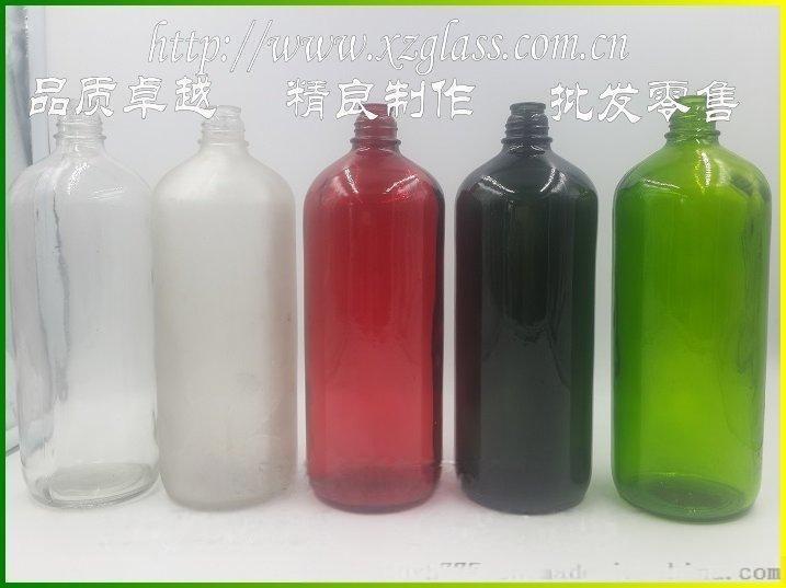 1000毫升精油瓶喷色蒙砂玻璃瓶