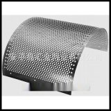 廠家供應粉碎機篩網65錳板圓孔沖孔網耐磨弧形篩板破碎機專用篩網