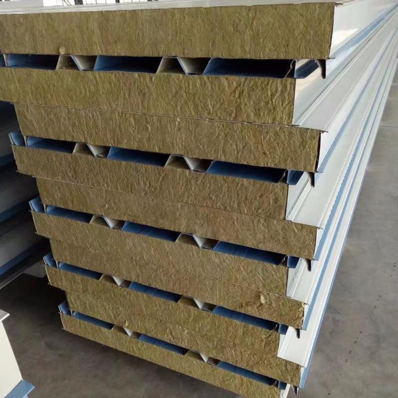 胜博 岩棉/玻璃丝棉复合板 墙面板/屋面板 950型/1000型 50mm-200mm 岩棉夹芯板