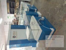 蓝色烤漆珠宝展示柜订做厂家,深圳珠宝展柜制作