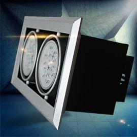 AR70系列大功率豆膽燈,銀色斜邊7W/14w/21w辦公酒店商場照明豆膽燈