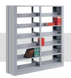 苏州钢制书架 图书馆书架 书店阅览室单双面书架