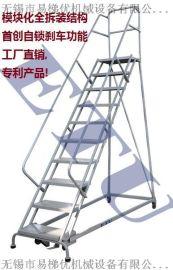 ETU易梯优,取货梯 仓库**登高取货的移动钢梯 自动锁定理货梯