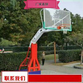 钢化玻璃篮板篮球架生产制造厂家 仿液压篮球架供应