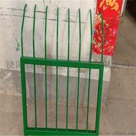 新乡绿色金属护栏 钢筋隔离围栏 折弯铁艺护栏