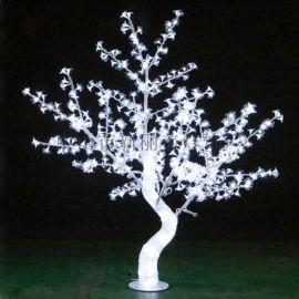 LED发光樱花灯树 景观桃花树 铁杆滴胶发光树灯