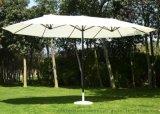 定製雙頂中柱傘、雙頂庭院傘定做工廠、戶外雙頭遮陽傘