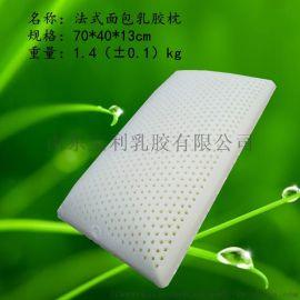 松禾源品牌天然乳胶枕生产厂家法式面包乳胶枕的好处