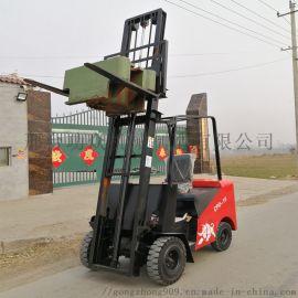 四轮座驾叉铲车 砖厂电动叉车 液压堆高车操作简便