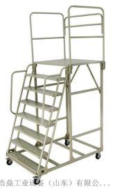 威海登高梯专业制作多步登高车超市移动取货梯