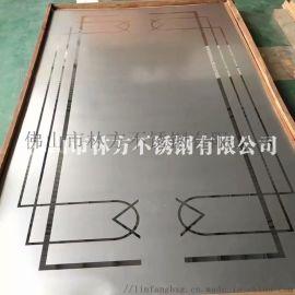 上海 酒店装饰钛金镜面蚀刻花纹电梯门板加工