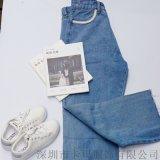 MOKOO0阔腿牛仔长裤 2019春装新品