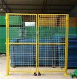 浙江工厂车间仓库隔离网护栏网防护网栅栏门黄绿蓝白色