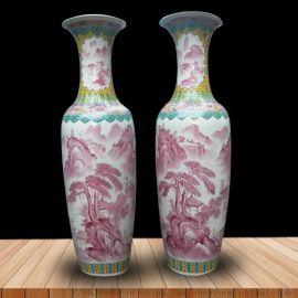 高档花瓶大码大大号摆件陶瓷器青花瓷酒店客厅景德镇装饰落地礼品