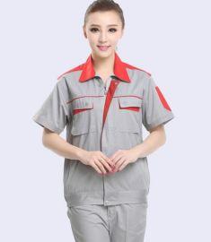 花都员工工衣定做 新雅夏季短袖工装定做 工厂工作服来样定做