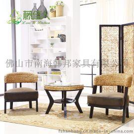 三件套藤椅休闲椅阳台椅实木桌椅藤家具厂家直销