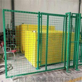 框架护栏网车间隔离网 隔离防护网浸塑车间隔离网