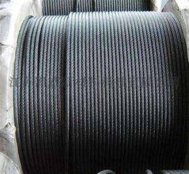 供应镀锌、光面钢丝绳6*7+FC,6*7+IWC