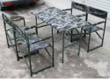 [鑫盾安防]野戰餐桌 迷彩野戰摺疊桌椅功能