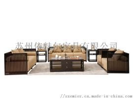 客厅沙发,8090专用沙发,新中式定制沙发0008