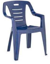 蓝色塑料靠背椅子模具