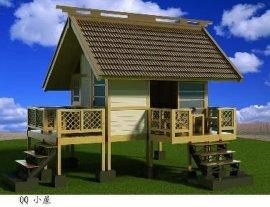 木塑户外生态木木屋小屋