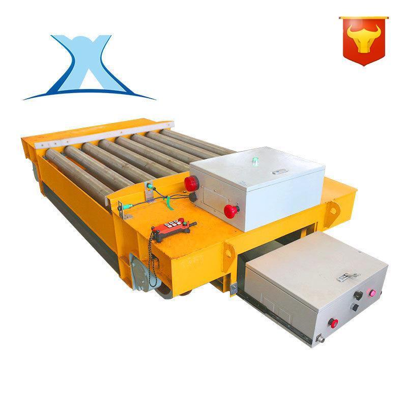 厂家定做板材搬运钢包轨道车轨道电动平板车厂