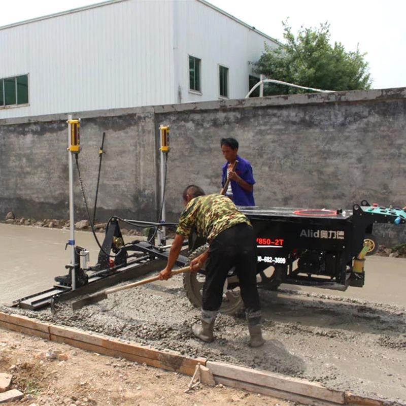 混凝土厂房地面整平 自动摊铺整平机 激光整平机