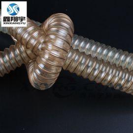 内径20mm透明钢丝软管, 钻孔机软管, 集尘管, 除尘管, pu钢丝管