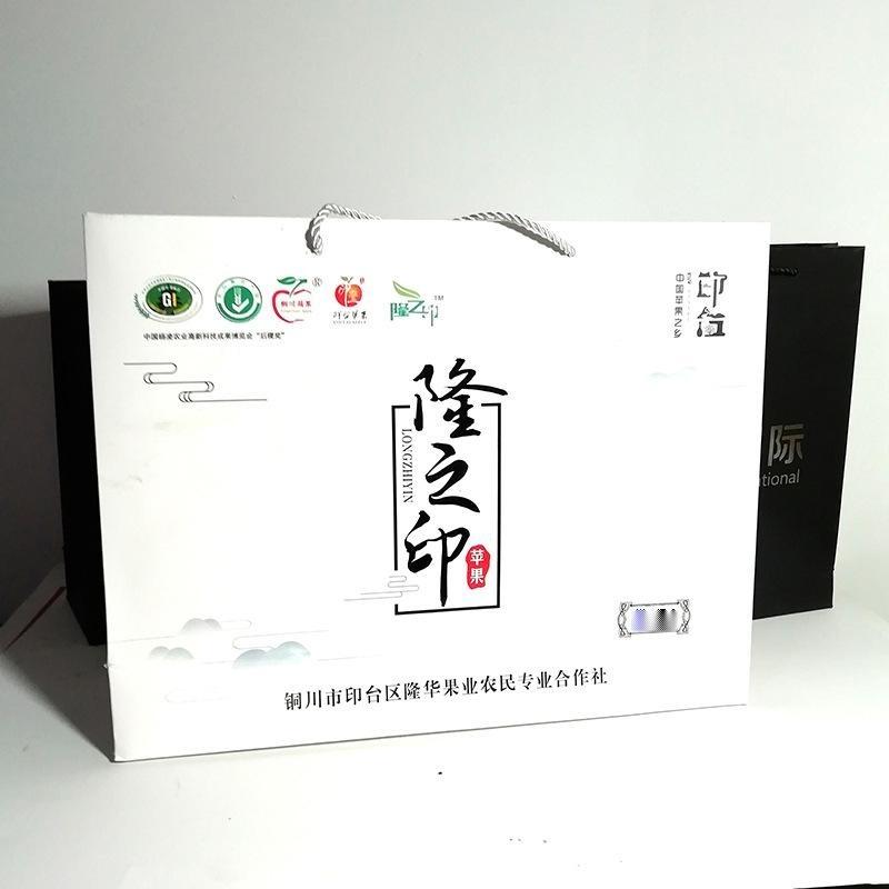 年貨包裝盒紅色節日送禮通用禮盒 手提土特產紙盒 定製手提袋禮盒