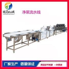 中央厨房净菜生产线 自动化果蔬加工流水线设备