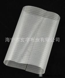 現貨供應0.3mm厚,300*300DPVC透明夾網布拉鏈帶用夾網布