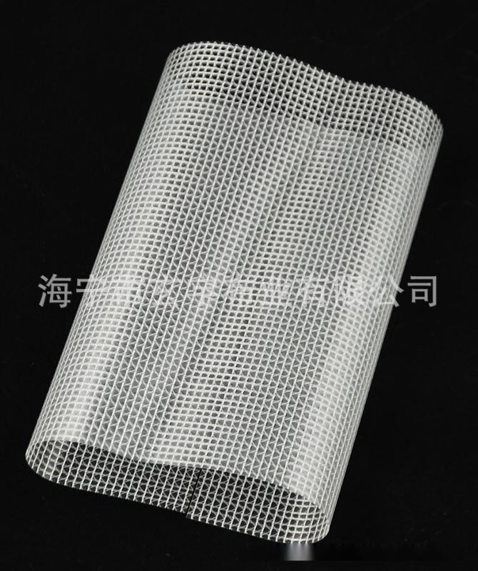 0.3mm厚PVC透明夹网布拉链带用夹网布