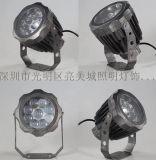 户外投射灯LED一束光超远射灯灯18W七彩投光灯