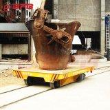 較潤德25噸滑線電動軌道車 定制導軌平板車