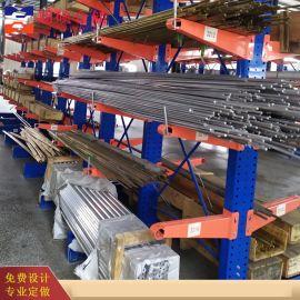 枣庄钢管置物架 单臂承重300kg 专业货架厂家
