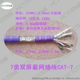 超7类网络线CAT-7 4*2*0.585 7类网线 低烟无卤