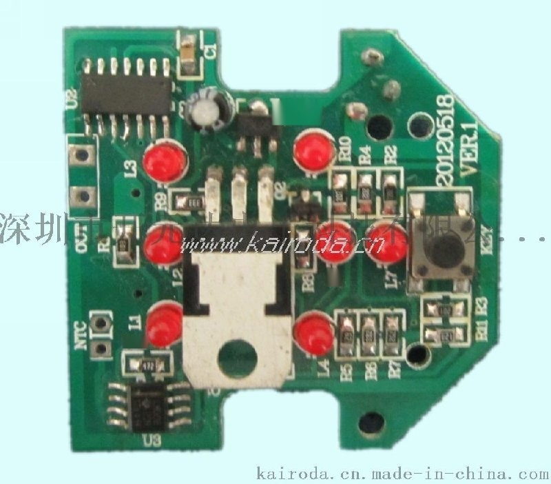 车载LED显示定时调温香炉线路控制板设计开发