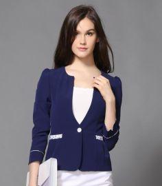 广州职业套装女装 春秋新款修身七分袖西服 工作服定做 厂家量身定做