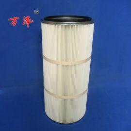 万泽专业生产工业设备液压滤芯不锈钢空气滤筒