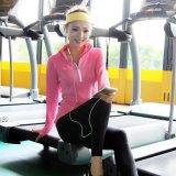 健身衣女运动紧身吸汗长袖修身显瘦瑜伽服速干拉链个性t恤卫衣