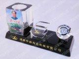 多功能水晶三件套  办公笔筒水晶三件套 水晶摆台价格