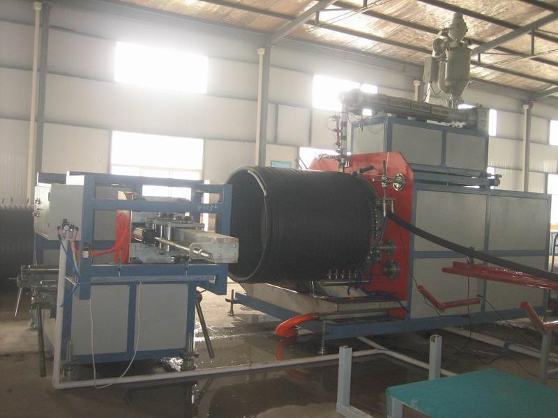 青岛隆昌捷机械PE大口径中空壁缠绕管生产线
