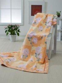 印花提花拉毛棉毯(123-1)