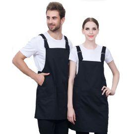 厂家供应水果店奶茶店韩版时尚围裙围腰工装围裙定制可印字LOGO