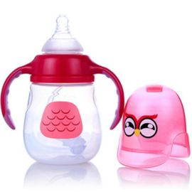**宽口PP奶瓶 卡通可爱防摔防胀仿母乳实感奶瓶