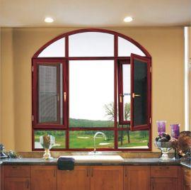 豪華135系列防蟲隔音隔熱斷橋鋁窗紗一體平開窗